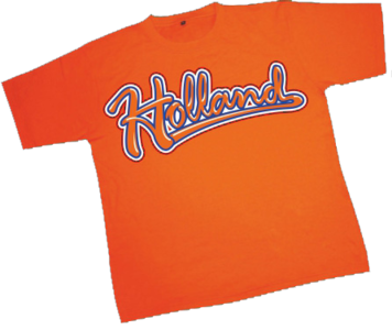 28256 T-shirt Holland rood wit blauw