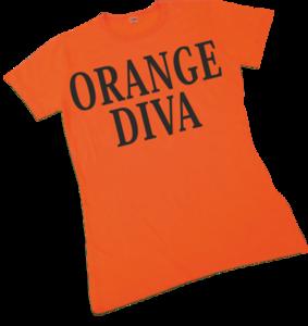 28191 Dames T-shirt Orange Diva