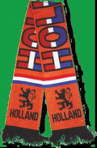 28095 Sjaal dubbel dik gebreid Holland r/w/b