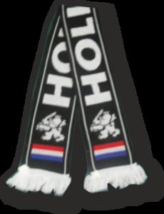28233 Dubbel gebreide sjaal Holland zwart