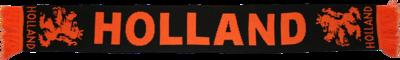 28274 Gebreide Holland sjaal zwart/oranje