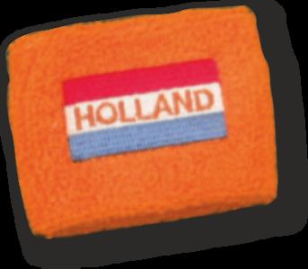 28116 Polsbandje met vlag en Holland geborduurd per 2 stuks