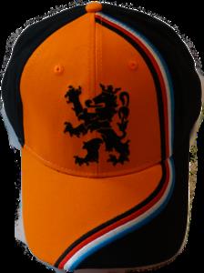 28517 Cap oranje/zwart